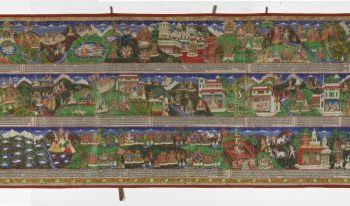 Narrative Scroll depicting Scenes from the Svayambhupurana