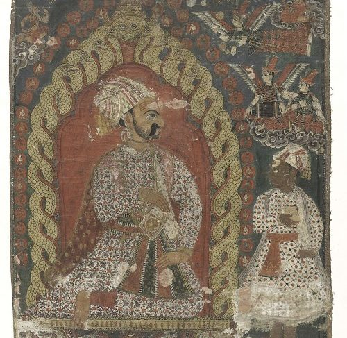 Painting with a representation of a monarch from the Malla dynasty