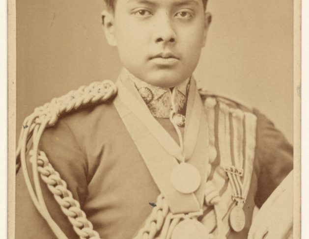 Portrait of Young Man in Military Costume
