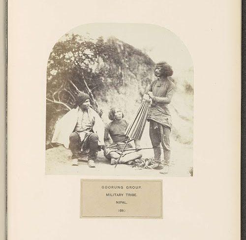 Drie Gurung mannen uit Nepal (Three Gurung men from Nepal)