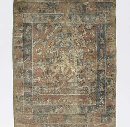 Painting on canvas of Vasudhara