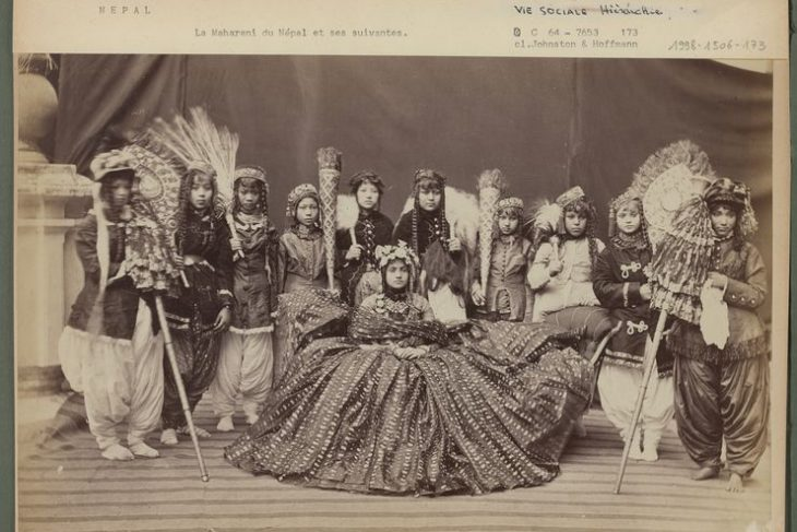 The Maharani of Nepal and her followers