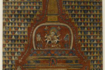 Ushnishavijaya in a Stupa
