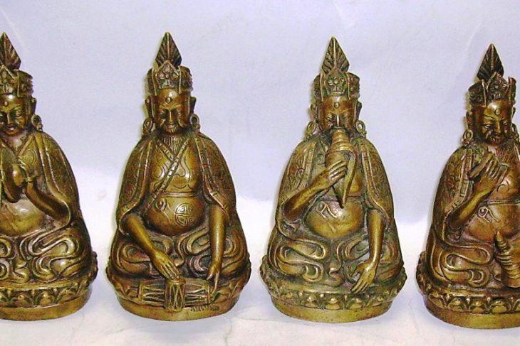 Eight Figurines of Buddhist Lamas