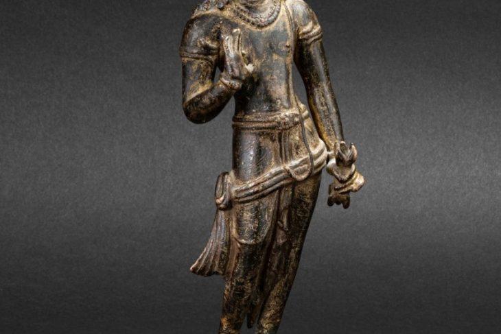 A Rare Gilt-Copper Figure of Vajrapani